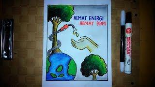Cara Membuat Poster Hemat Energi Bbm Poster Hemat Energi Youtube