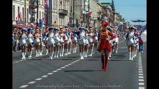 Рекорд России. Шоу тысячи барабанщиков со всей России на Невском. Санкт-Петербург