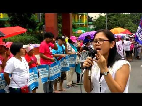 Gabriela pre-SONA2016 rally before the Philippine Congress