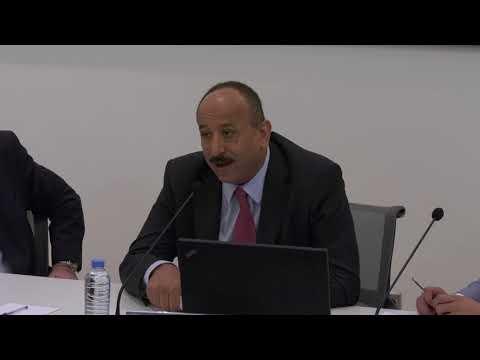 محافظ تعز علي المعمري متحدثًا في معهد عصام فارس للسياسات العامة والشؤون الدولية في ال AUB