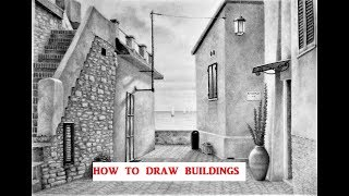 How to Draw Buildings & Landscapes, Graphite Pencil Shading Techniques