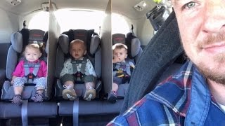 Father of 2-Year-Old Triplets Finds Inventive Car Hack To Stop Backseat Fighting