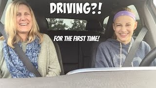 LEARNING TO DRIVE FOR THE FIRST TIME?!!