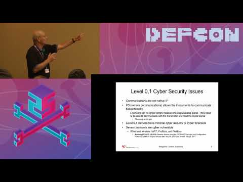 DEF CON 25 ICS Village - Joe Weiss - Cyber Security Issues with Level 0 through 1 Devices