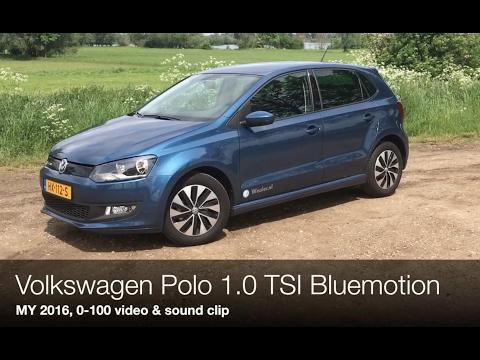 0-100 km/h & SOUND Volkswagen Polo 1.0 TSI Bluemotion