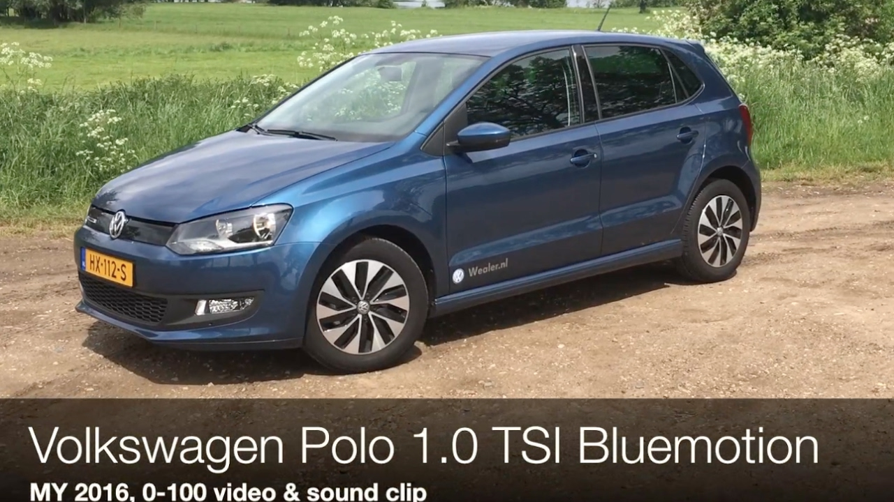 0 100 km h sound volkswagen polo 1 0 tsi bluemotion. Black Bedroom Furniture Sets. Home Design Ideas