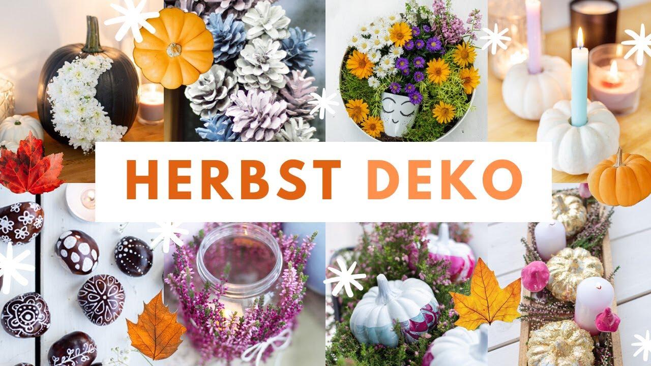 HERBST DEKO IDEEN 20 selber machen 🍁 20 schnelle & einfache HERBST  DEKORATION   TRYTRYTRY