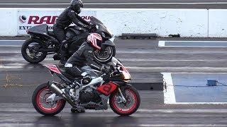Hayabusa vs Aprilia rsv4 rr - street bikes racing