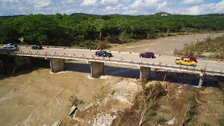 May 24, 2015 Blanco River Flood in Wimberley, Texas RR 12 Bridge Devastation