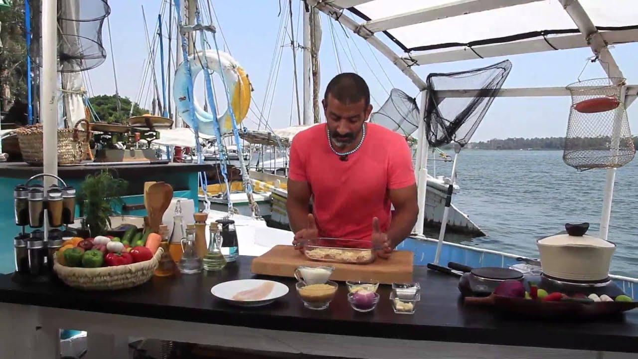 سمك قراميط بالجبنة البارميزان - شعرية بالسمك الفيلية : شبكة وصنارة حلقة كاملة