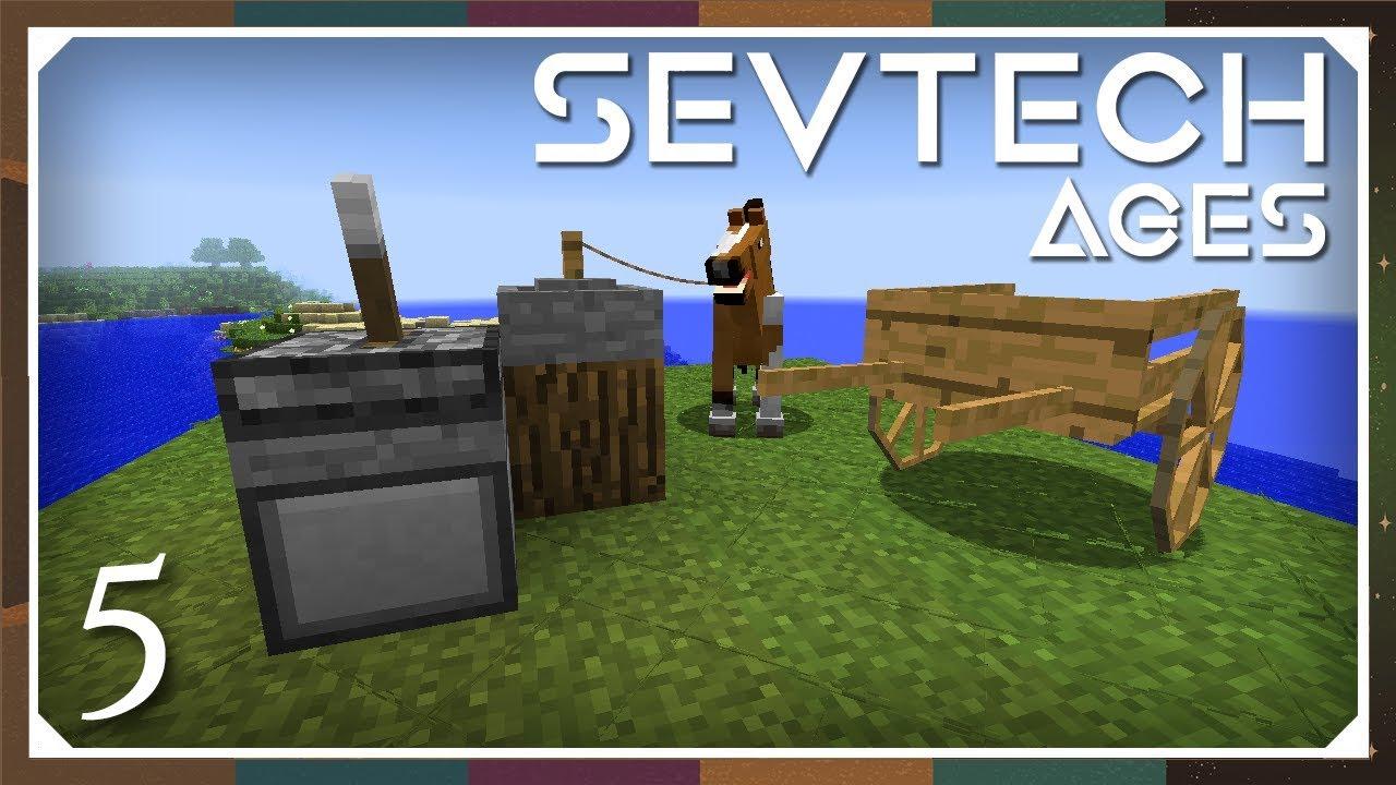 Sevtech: Ages | Horse Power, Millstone & Cart Storage! | E05