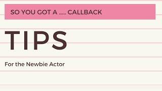 So I Got A ... Callback