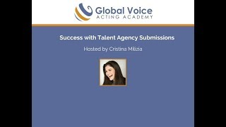 Video Success with Talent Agency Submissions with Cristina Milizia! download MP3, 3GP, MP4, WEBM, AVI, FLV Oktober 2017