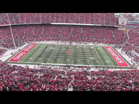 Ohio State and Michigan bands perform America the Beautiful