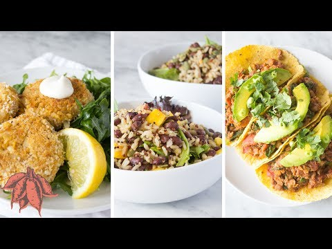 Damn Good Vegan Meals in UNDER 15 MINUTES | 3 Easy Vegan Recipes 🎉