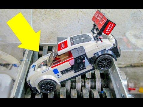 Shredding A Lego Audi R8! Speed Champions Lego Car Destroyed!