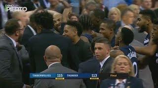 Andrew Wiggins Game Winner Timberwolves vs Thunder | October 22 2017 | 2017-18 NBA season