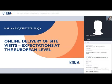 ENQA Webinar On Online Site Visits And External Quality Assurance In Times Of COVID-19