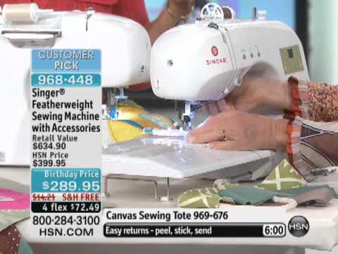 Singer Featherweight Sewing Machine With Accessories And YouTube Amazing Hsn Com Singer Sewing Machines