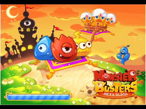 Monster Busters Hexa Blast Level 1-10