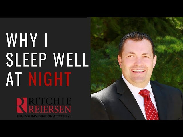 Why I Sleep Well at Night