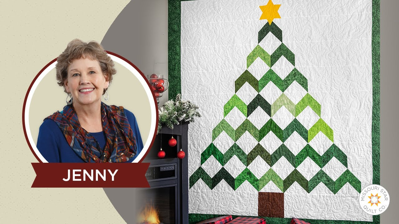 Make A Christmas Tree Chevron Quilt With Jenny Doan Of Missouri Star Instructional Video Youtube