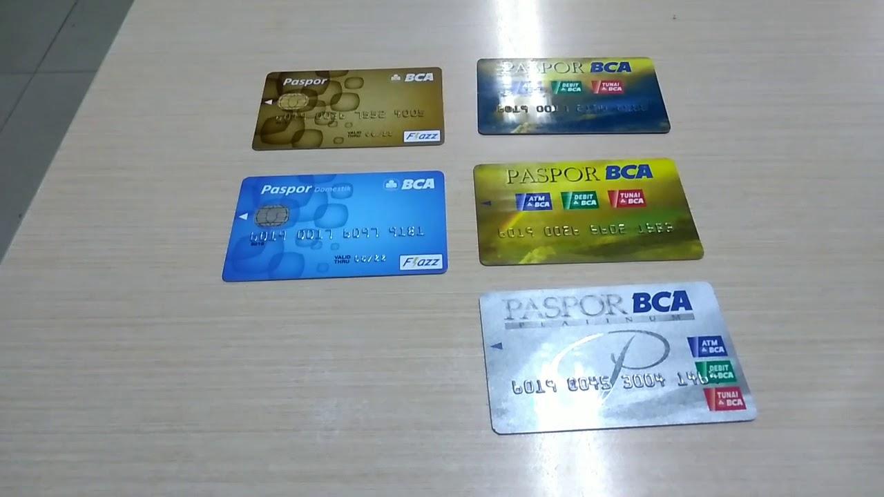 cara membedakan jenis kartu ATM BCA - YouTube