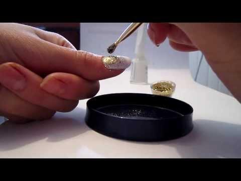 Маникюр с блестками в домашних условиях | Manicure with sequins at home