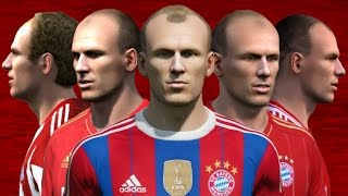 Robben from FIFA 04 to 15 (Face Rotation and Stats)