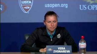 2011 US Open Press Conferences: Vera Zvonareva (Second Round)