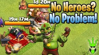 No Heroes? No Problem! - Let's Play TH9 Ep.23 - Clash of Clans - Mass Goblin / Goblin Knife Farming