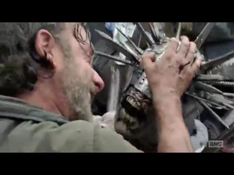 Rick Meets Winslow  Rick vs spiked zombie: The Walking Dead 7x10
