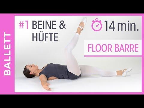 Ballett Bodentraining für Anfänger - Floor Barre - Beine & Hüfte - Tanz mit Anna - HD