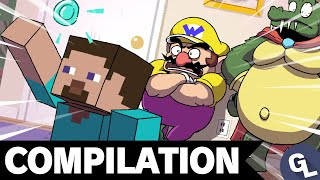 Minecraft Steve Joins Smash! Super Smash Bros. Ultimate Comic Dub Compilation 11 - GabaLeth