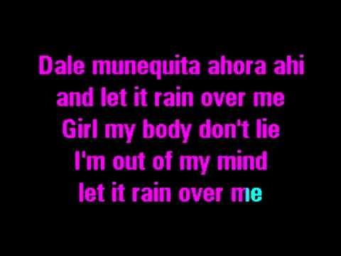 Karaoke Marc Anthony Feat Pitbull - Rain Over Me - YouTube