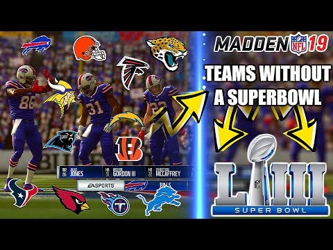 CAN THE BEST PLAYERS FROM TEAMS WITHOUT A SUPERBOWL WIN THE SB? Madden 19 Experiment