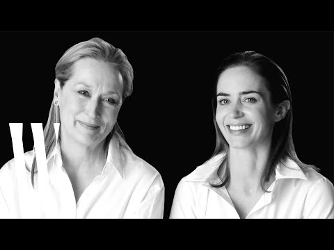 Meryl Streep and Emily Blunt on Will Ferrell and Roy Scheider in Jaws  Screen Tests  W Magazine