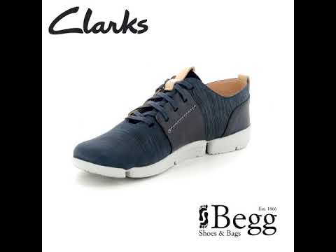 Clarks Tri Caitlin D Fit Navy trainers