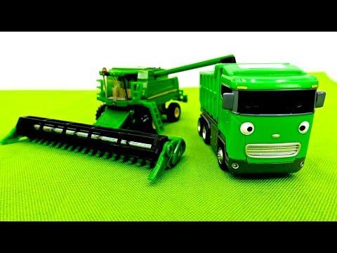 Машины помощники: Трактор, Комбайн, Грузовик Развивающие мультики #промашинки Видео и Игры для Детей