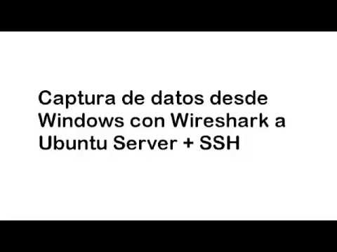 Taller de seguridad Informatica Wireshark+SSh Router y Ubuntu Server 1/2