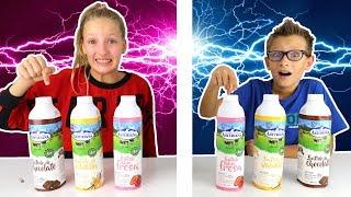 Twin Telepathy Milkshake Challenge ! !