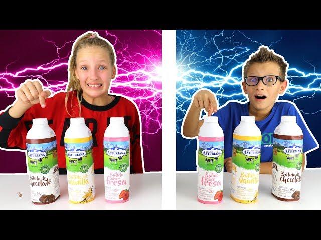 Twin Telepathy Milkshake Challenge!!