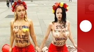 Topless against Putin: Femen activists protest in Italy ahead of Russia-Ukraine talks(Topless activist group Femen demonstrates in Milan where Russia - Ukraine talks on the sidelines of the Asia-Europe Meeting are expected to take centre stage., 2014-10-16T09:42:00.000Z)