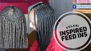 Fulani Inspired| Layerd Feed In Braids