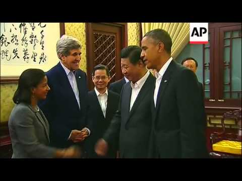 President Obama joins host Xi Jinping at bilateral dinner - 2014
