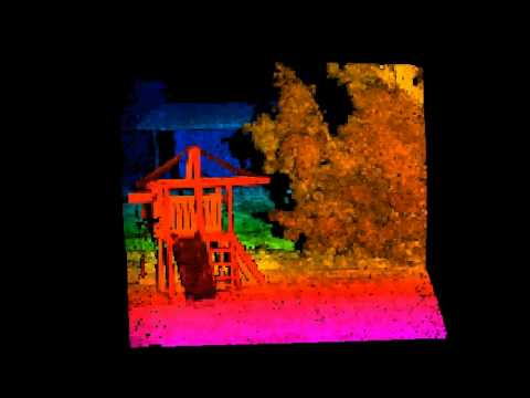 3D Flash Lidar Captures Swingset
