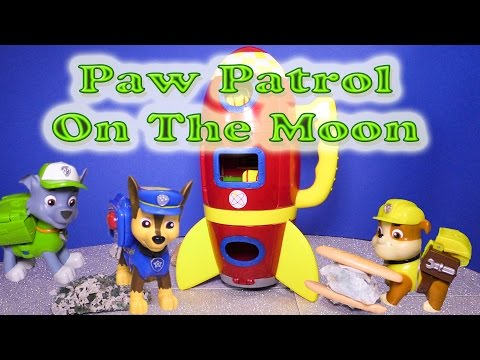 PAW PATROL Nickelodeon Paw Patrol on the Moon Space Travel Toys Video