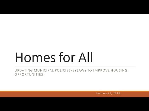 TRORC and CVOEO: Home for All Updating Municipal Policies to improve housing opportunities