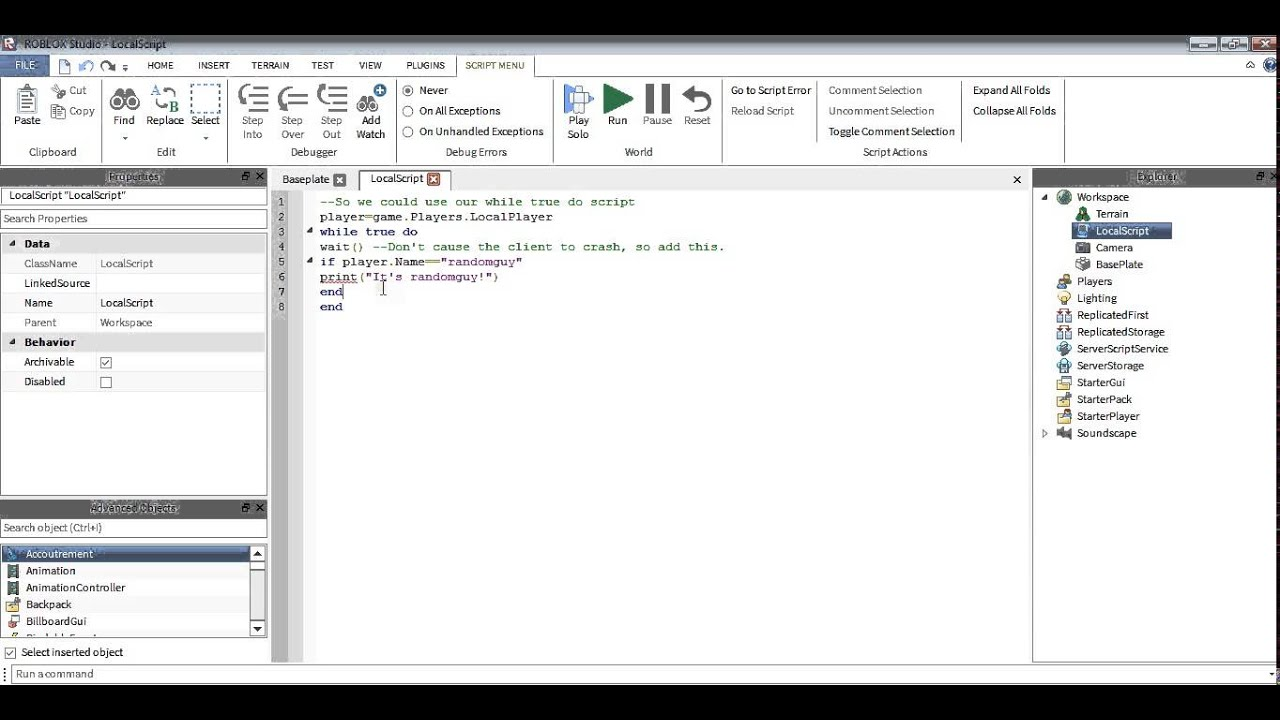 Roblox Scripting Tutorial Local Scripts - roblox module scripts example