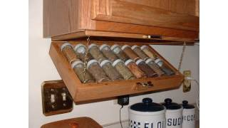 Creative Kitchen Storage Idea Under Cabinet Spice Rack